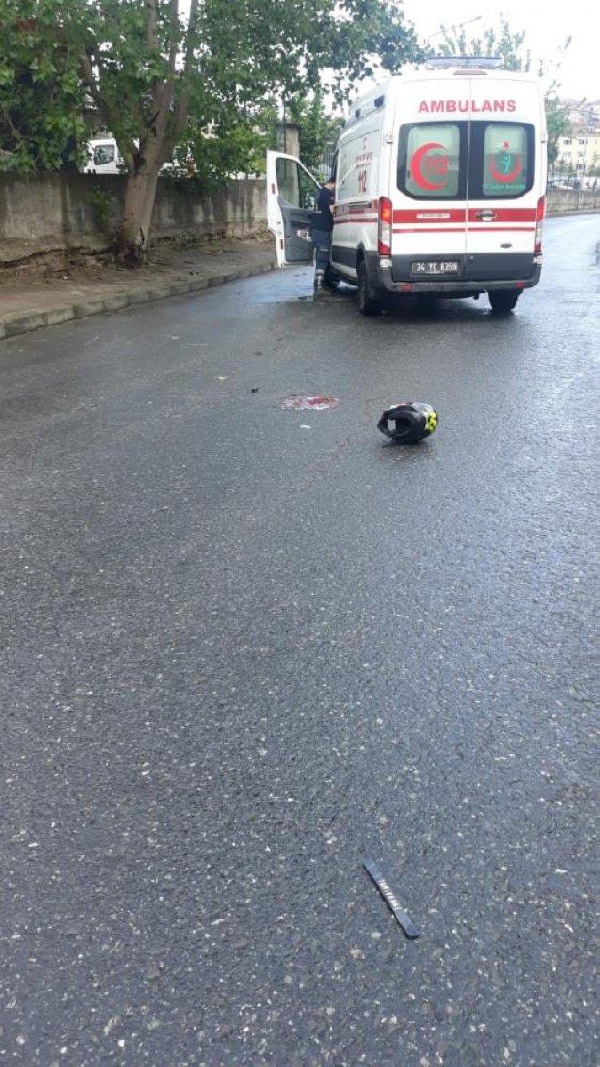 İstanbul da motosiklet tutkunu genç hayatını kaybetti  #8