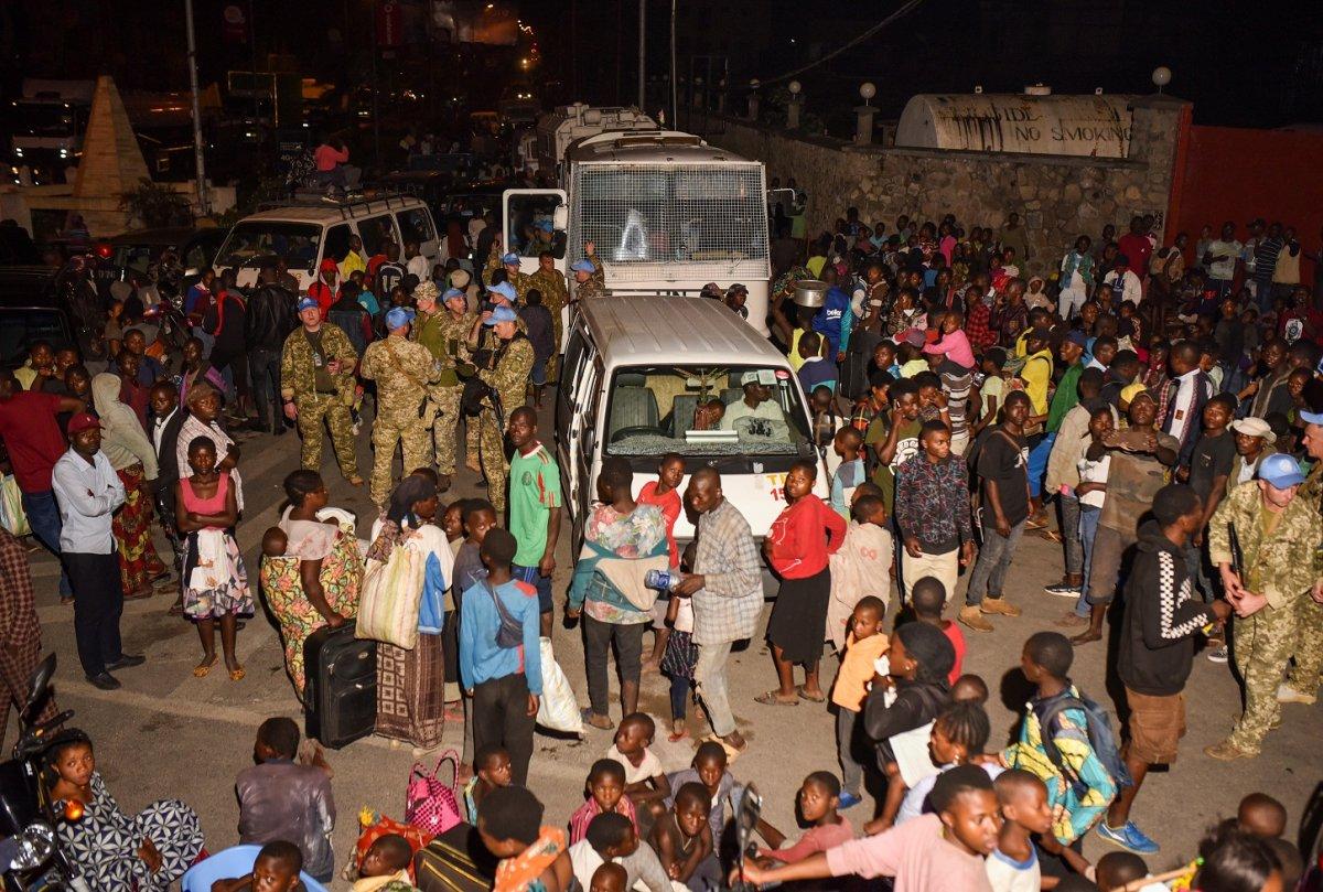 Kongo'da Afrika nın en aktif yanardağı Nyiragongo patladı #11