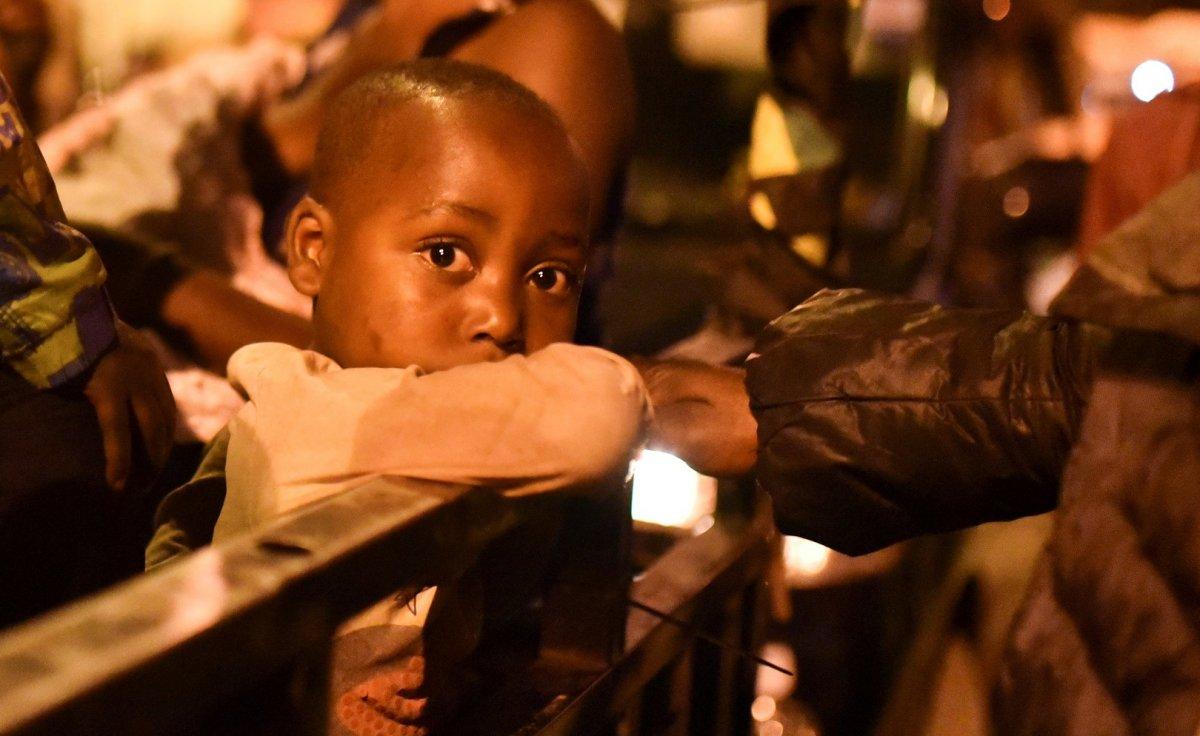 Kongo'da Afrika nın en aktif yanardağı Nyiragongo patladı #5