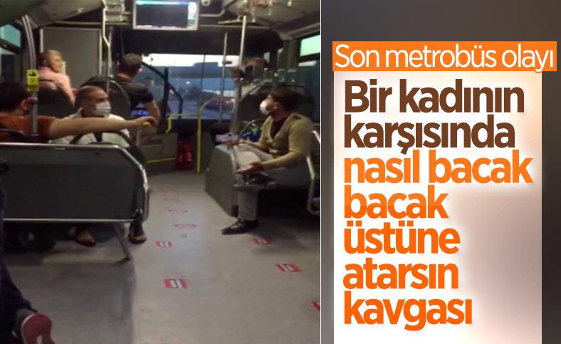 İstanbul'da metrobüste, 'bacak bacak üstüne attın' kavgası çıktı
