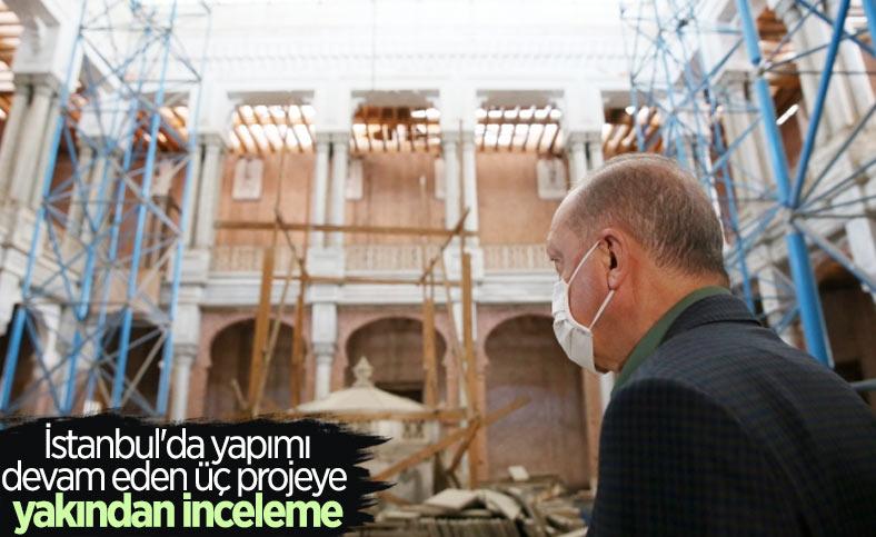 Cumhurbaşkanı Erdoğan, İstanbul'da incelemelerde bulundu