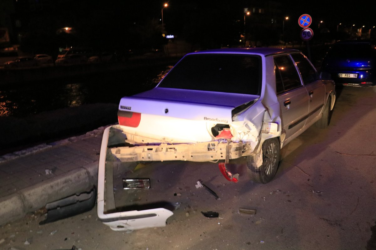 Adana da drift yapan araç bekçiye çarptı #2