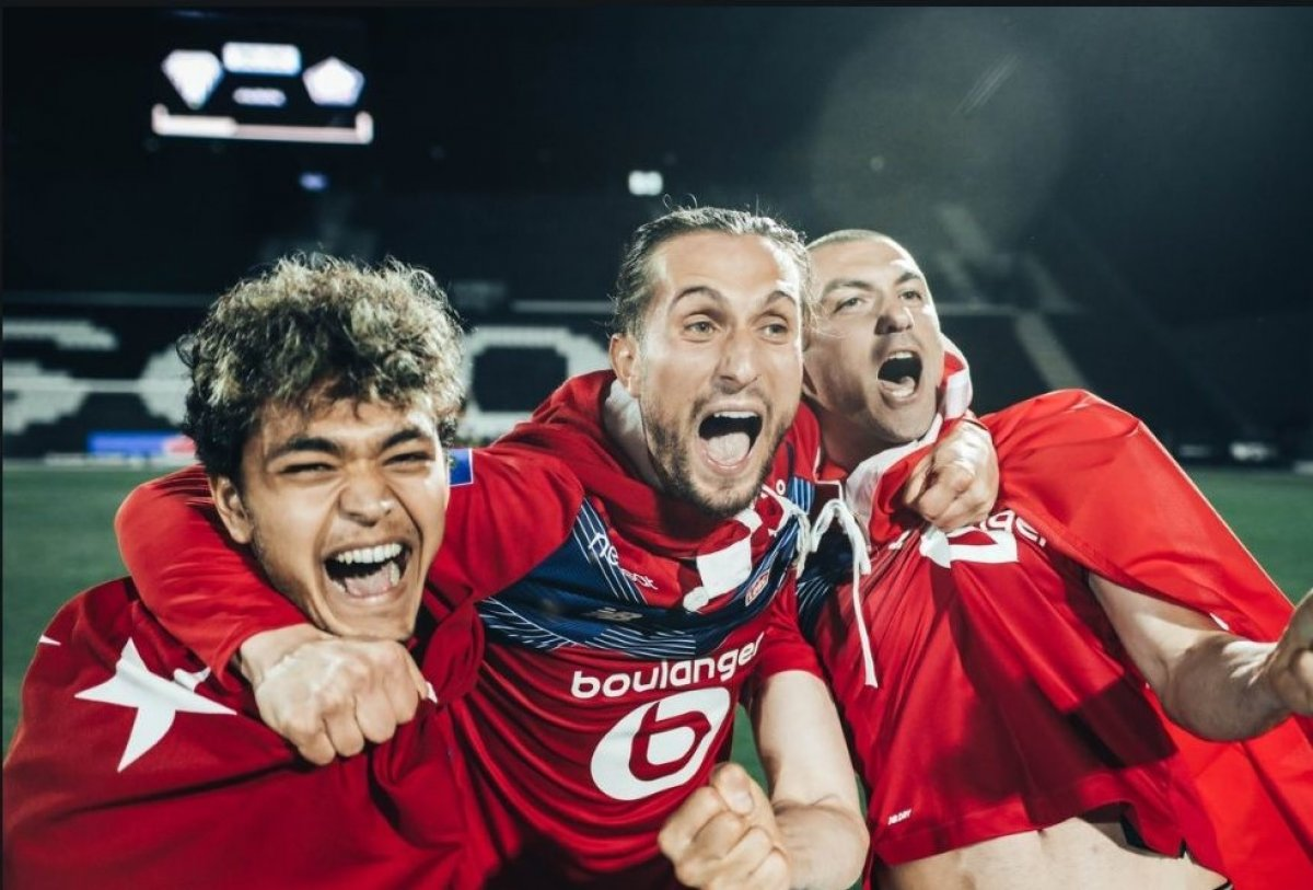 Lille, Fransa Ligue 1'de şampiyon oldu #1
