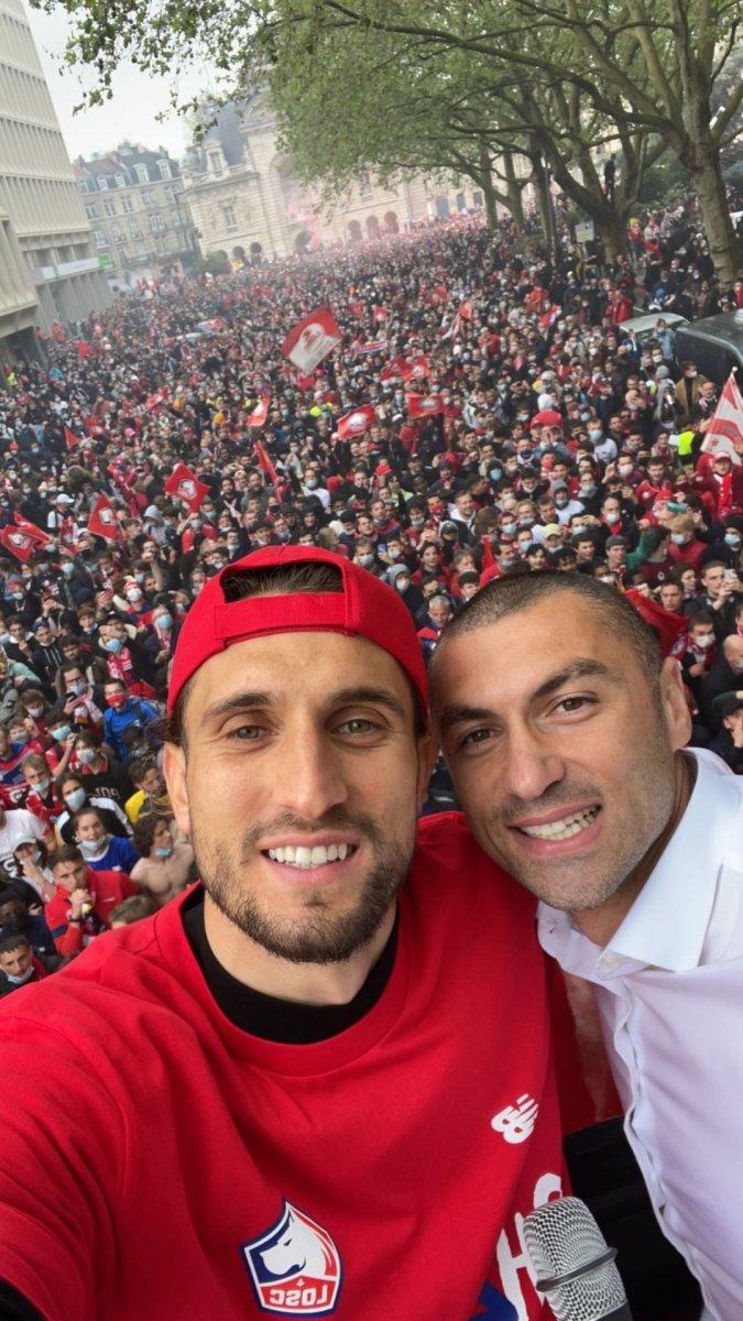 Fransa da Lille taraftarından  Türk bayraklı  şampiyonluk kutlaması #4
