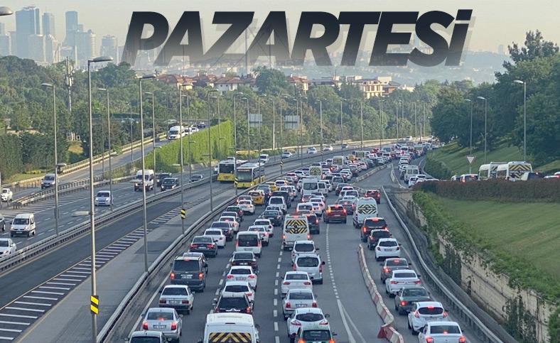 İstanbul'da haftanın ilk iş günü trafiği