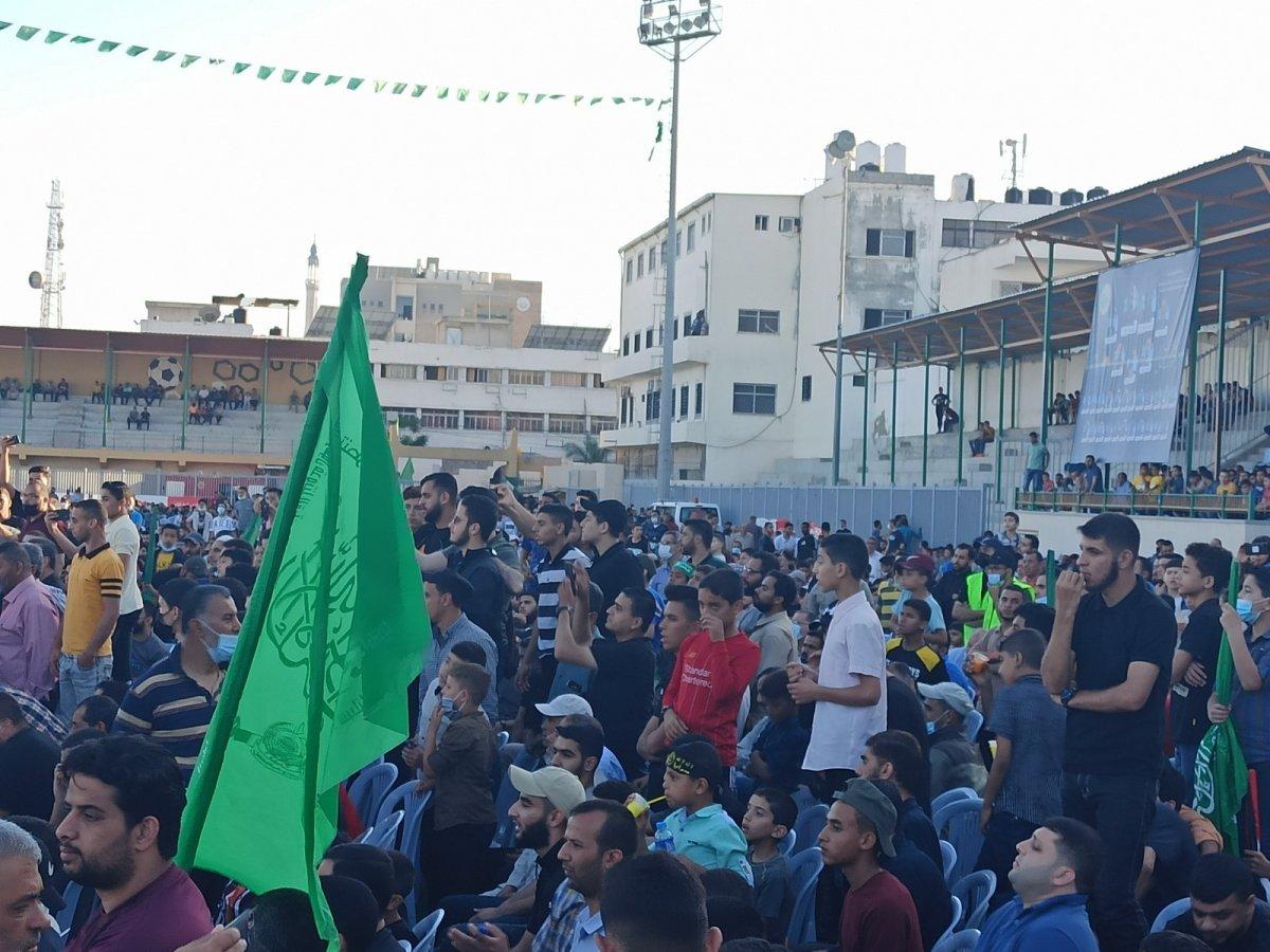 Hamas, Gazze Şeridi'nde şehit olanlar adına toplu anma töreni düzenledi #3