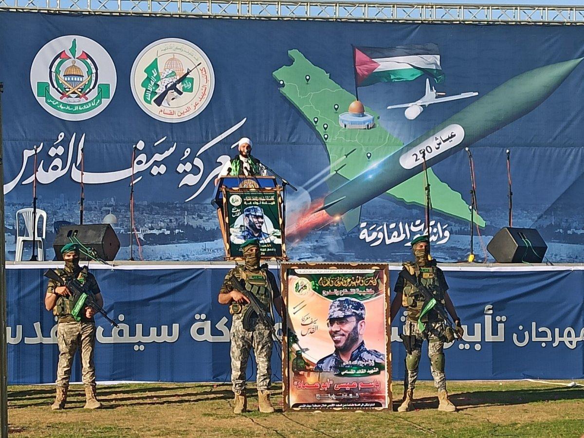 Hamas, Gazze Şeridi'nde şehit olanlar adına toplu anma töreni düzenledi #4