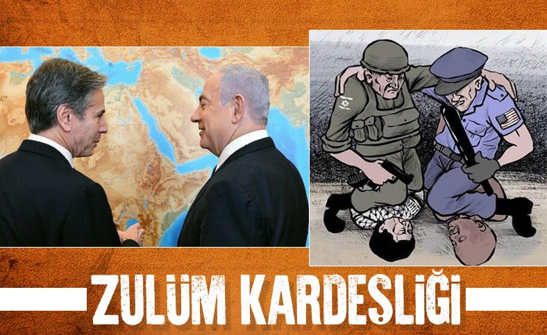 ABD Dışişleri Bakanı Blinken'in İsrail ziyaretinde dikkat çeken fotoğraf