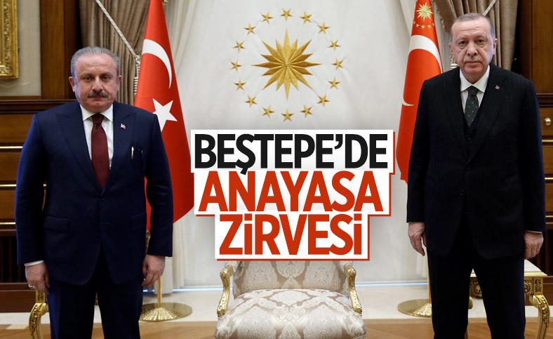 Cumhurbaşkanı Erdoğan, Mustafa Şentop ile görüştü