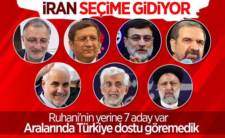 İran'da cumhurbaşkanlığı seçimlerinin 7 adayı belli oldu