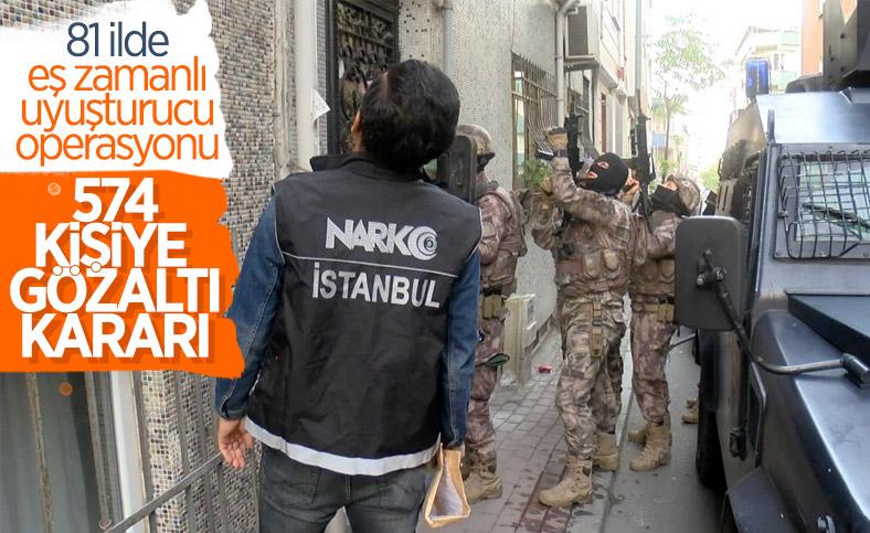 İstanbul'da uyuşturucu operasyonu: 574 kişiye gözaltı kararı