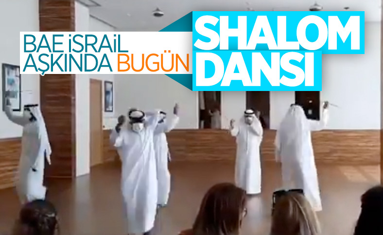 İsrailli heyete, Birleşik Arap Emirlikleri'nde danslı karşılama