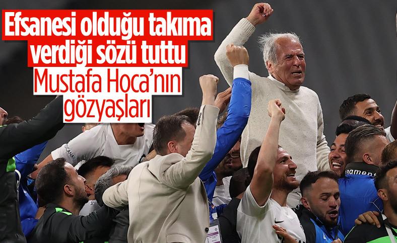 Altay Teknik Direktörü Mustafa Denizli gözyaşlarını tutamadı