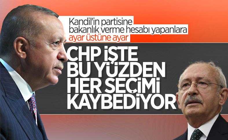 Cumhurbaşkanı Erdoğan'dan CHP'ye HDP'li bakan tepkisi