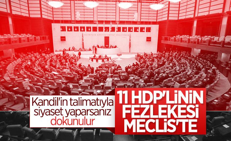 11 HDP'li için hazırlanan fezlekeler Meclis'te