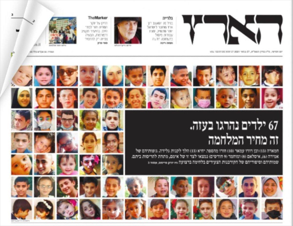 Haaretz, İsrail in öldürdüğü Gazzeli çocukların fotoğraflarını paylaştı #1