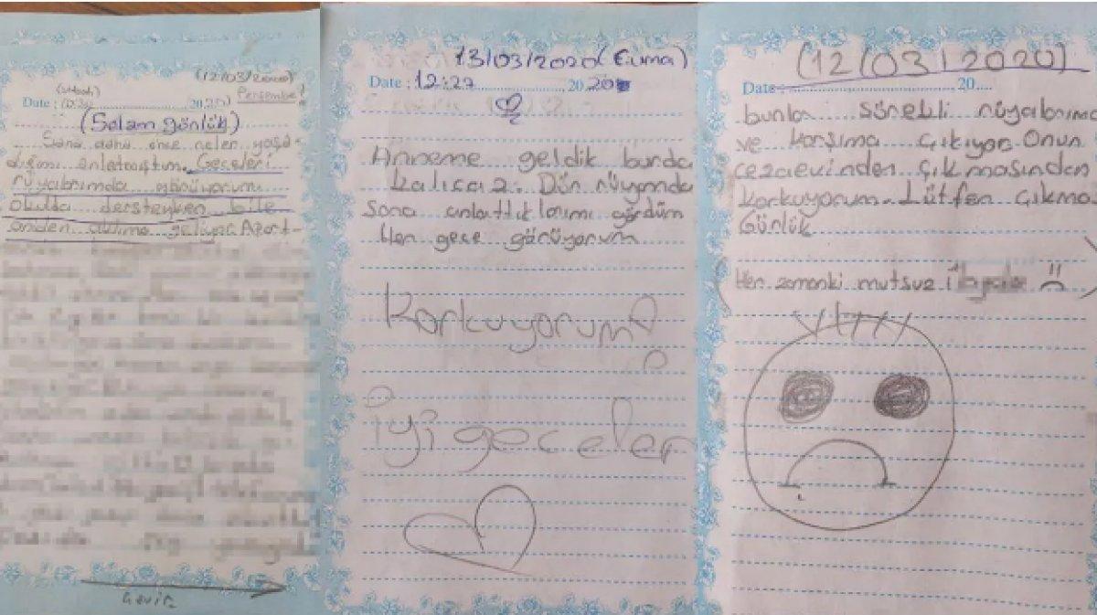 İzmir de tacize uğrayan küçük kızın günlüğü ortaya çıktı #2