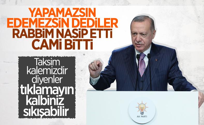 Cumhurbaşkanı Erdoğan: Yarın Taksim Camii'nin açılışını yapacağız