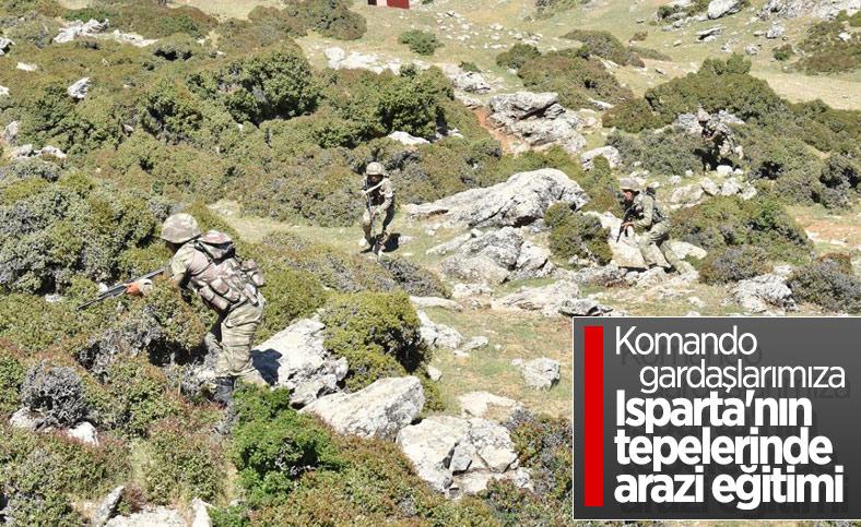 Azerbaycan askerleri, Isparta'da tatbikat yaptı