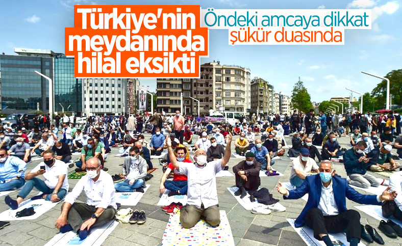 Taksim Camii'nde açılış öncesi görüntüler