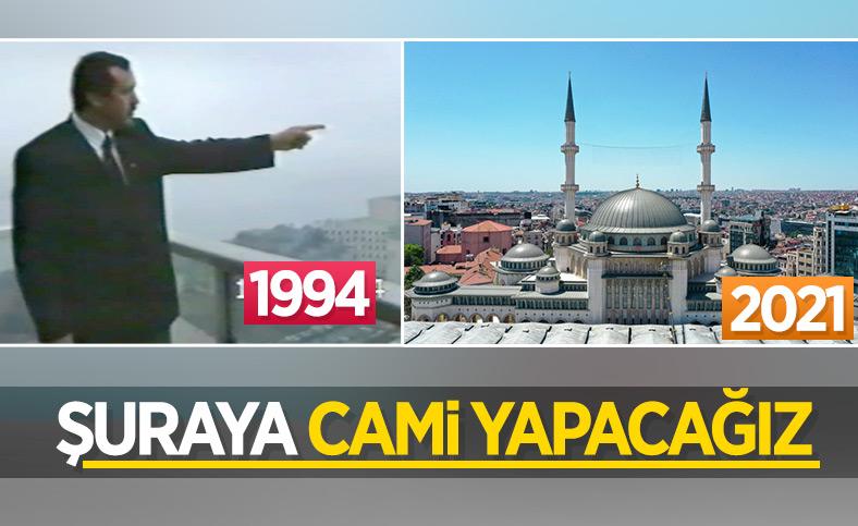 Taksim Camii'nde açılış günü
