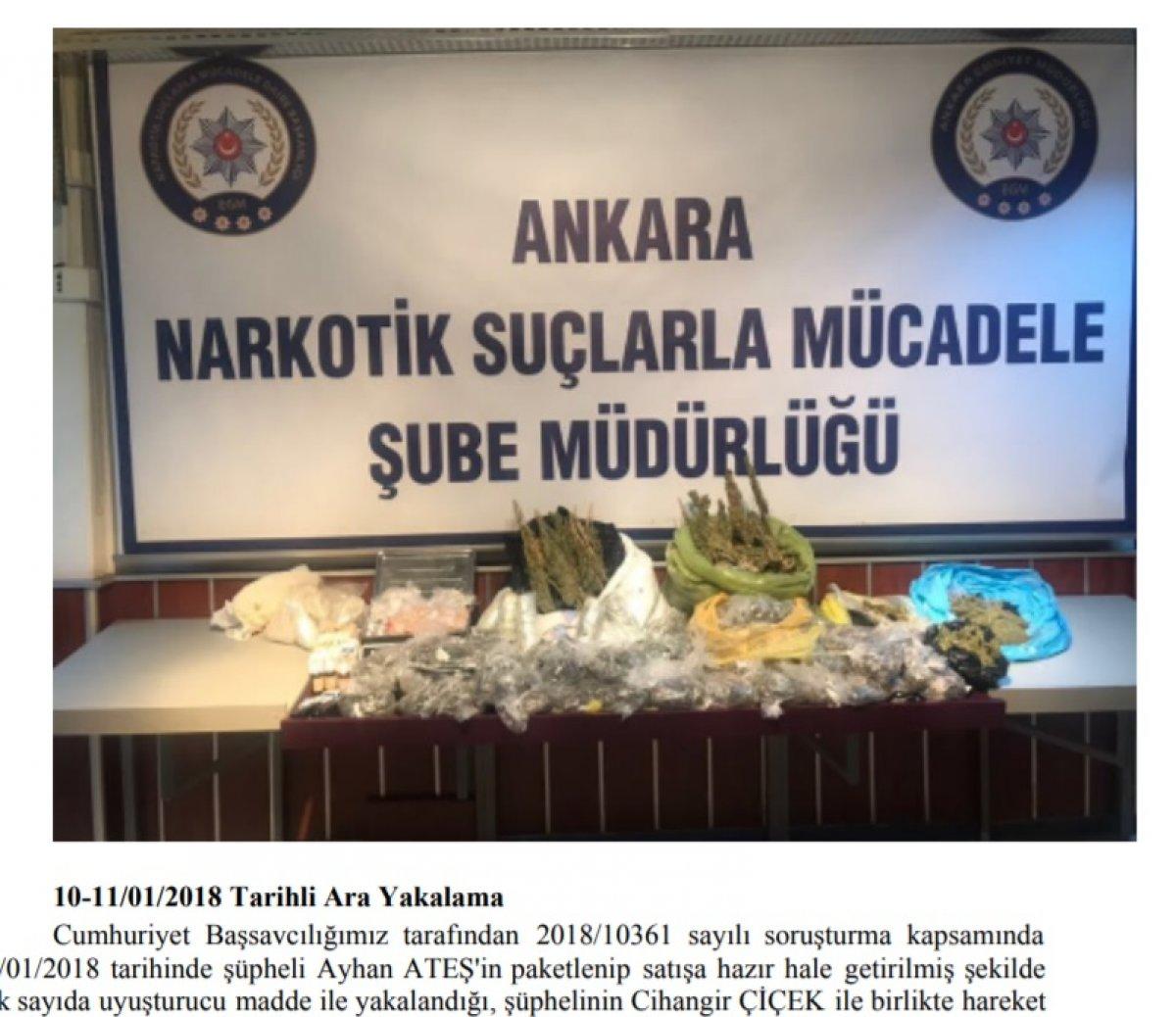 Ankara da uyuşturucu ticareti: Not defteri delil sayıldı #5