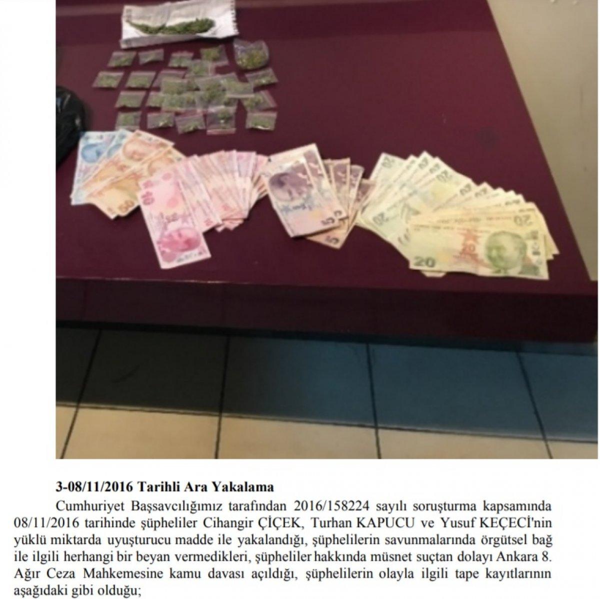 Ankara da uyuşturucu ticareti: Not defteri delil sayıldı #3