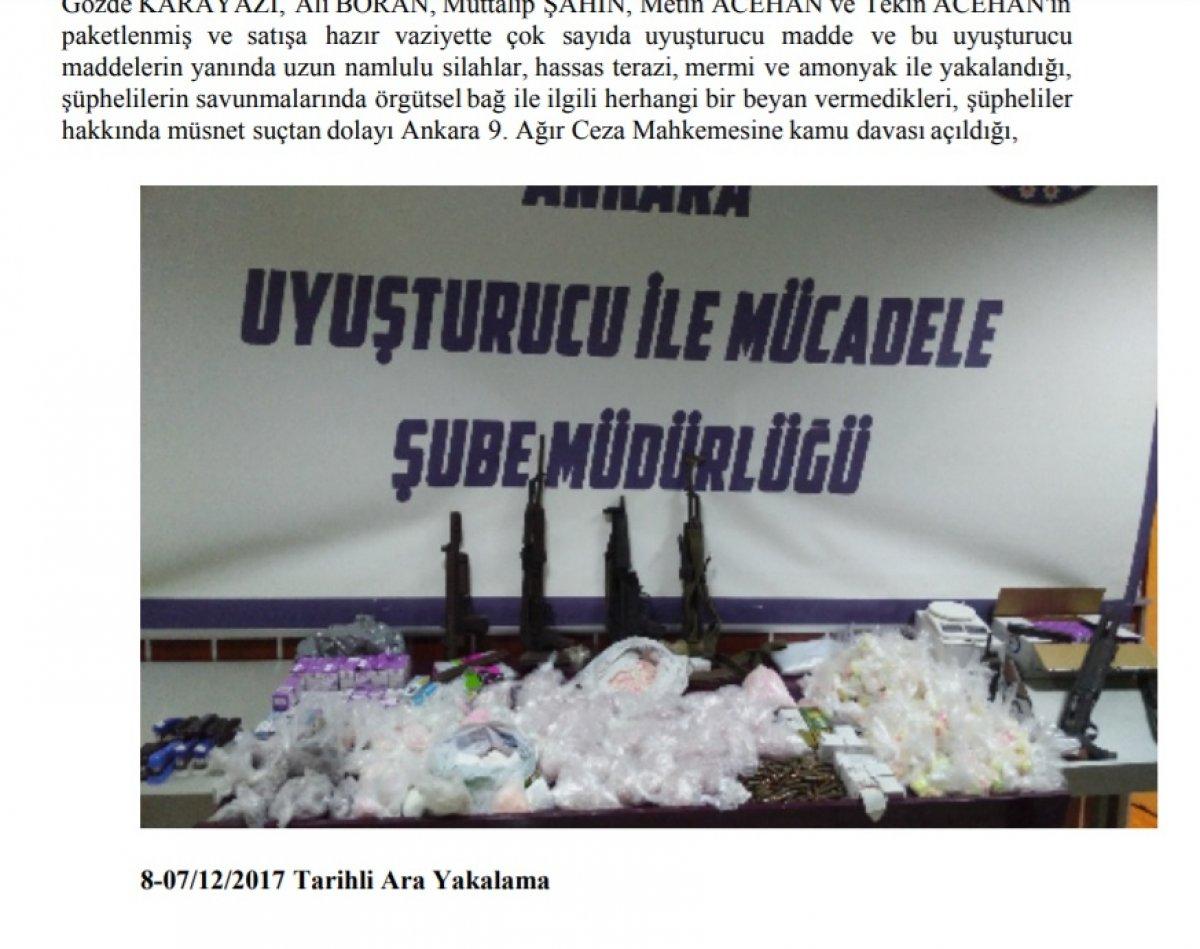 Ankara da uyuşturucu ticareti: Not defteri delil sayıldı #4