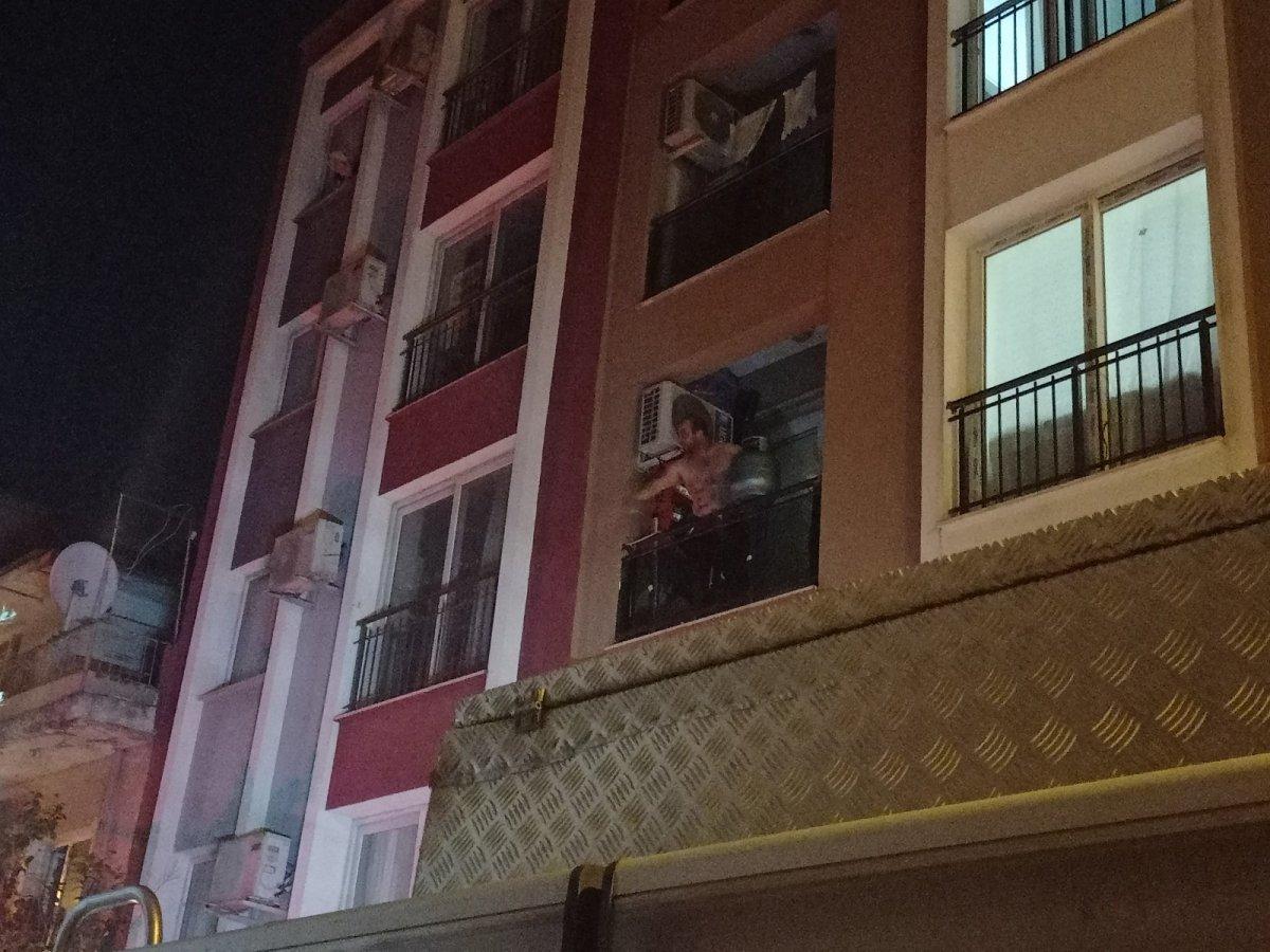 Aydın da evini tüple patlatmaya kalktı, polis alarma geçti #1