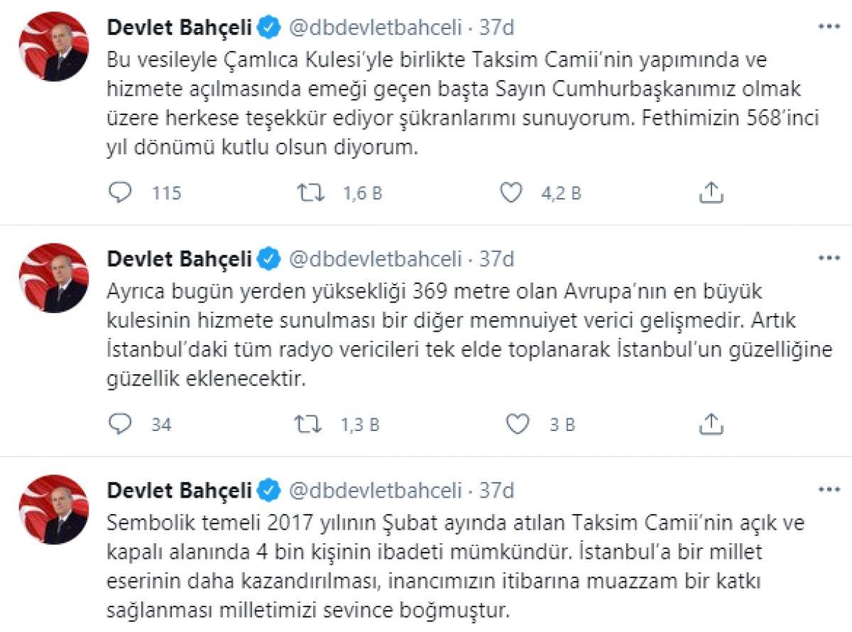Devlet Bahçeli den İstanbul un fethi mesajı: Yankıları devam ediyor #5