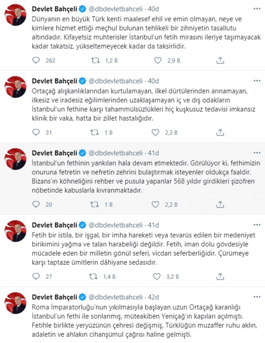 Devlet Bahçeli den İstanbul un fethi mesajı: Yankıları devam ediyor #3