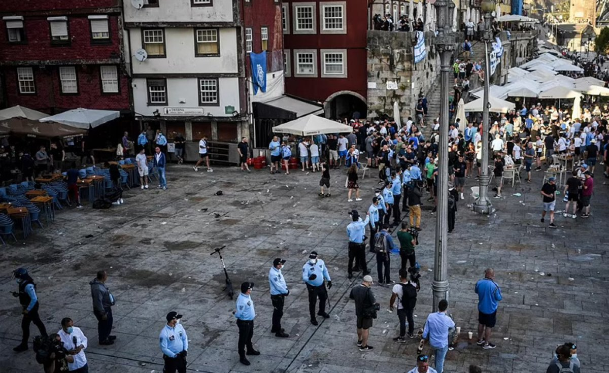 Portekiz de Şampiyonlar Ligi finali öncesi sokaklar kana bulandı #4