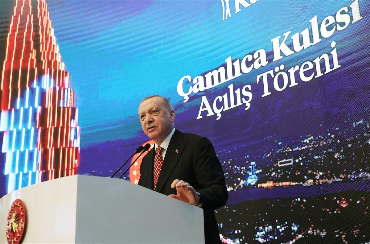 Cumhurbaşkanı Erdoğan ın Çamlıca Kulesi açılış töreni konuşması #1