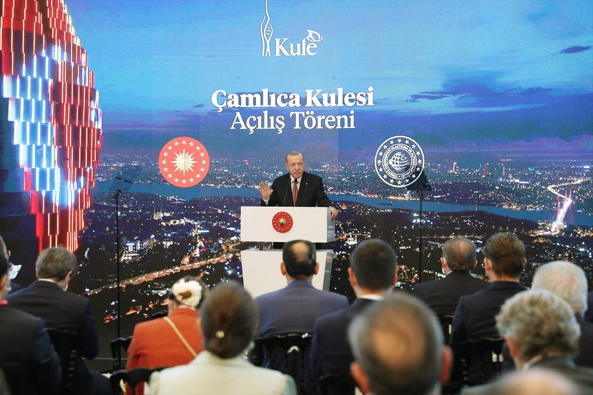 Cumhurbaşkanı Erdoğan ın Çamlıca Kulesi açılış töreni konuşması #3