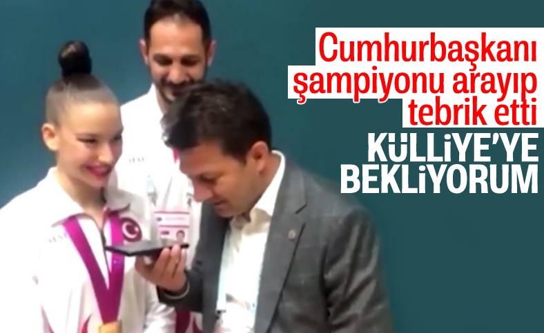 Recep Tayyip Erdoğan'dan dünya şampiyonu Ayşe Begüm Onbaşı'ya tebrik telefonu