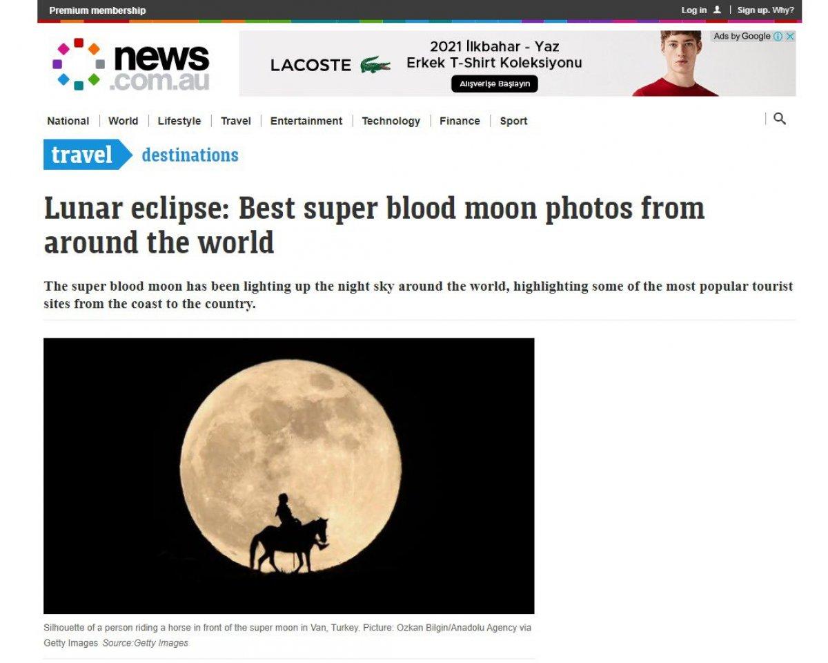 AA nın Van da çektiği Süper Ay fotoğrafları dünya basınında #2