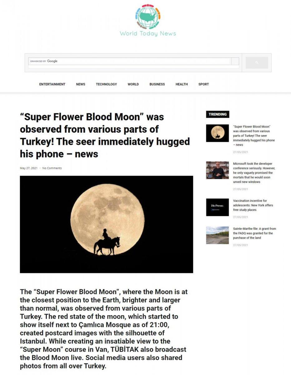AA nın Van da çektiği Süper Ay fotoğrafları dünya basınında #4