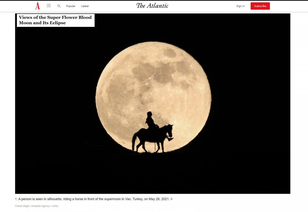 AA nın Van da çektiği Süper Ay fotoğrafları dünya basınında #1