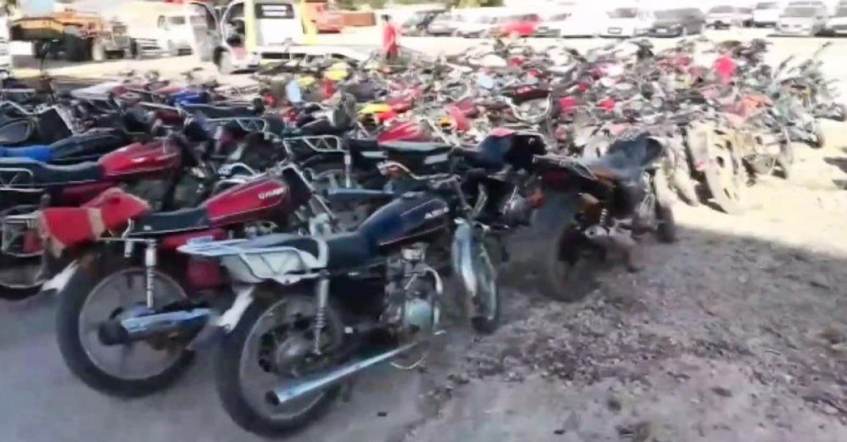 Şanlıurfa da 154 çalıntı motosiklete el konuldu  #3