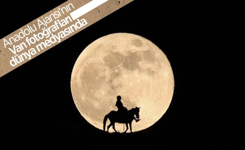 AA'nın Van'da çektiği Süper Ay fotoğrafları dünya basınında