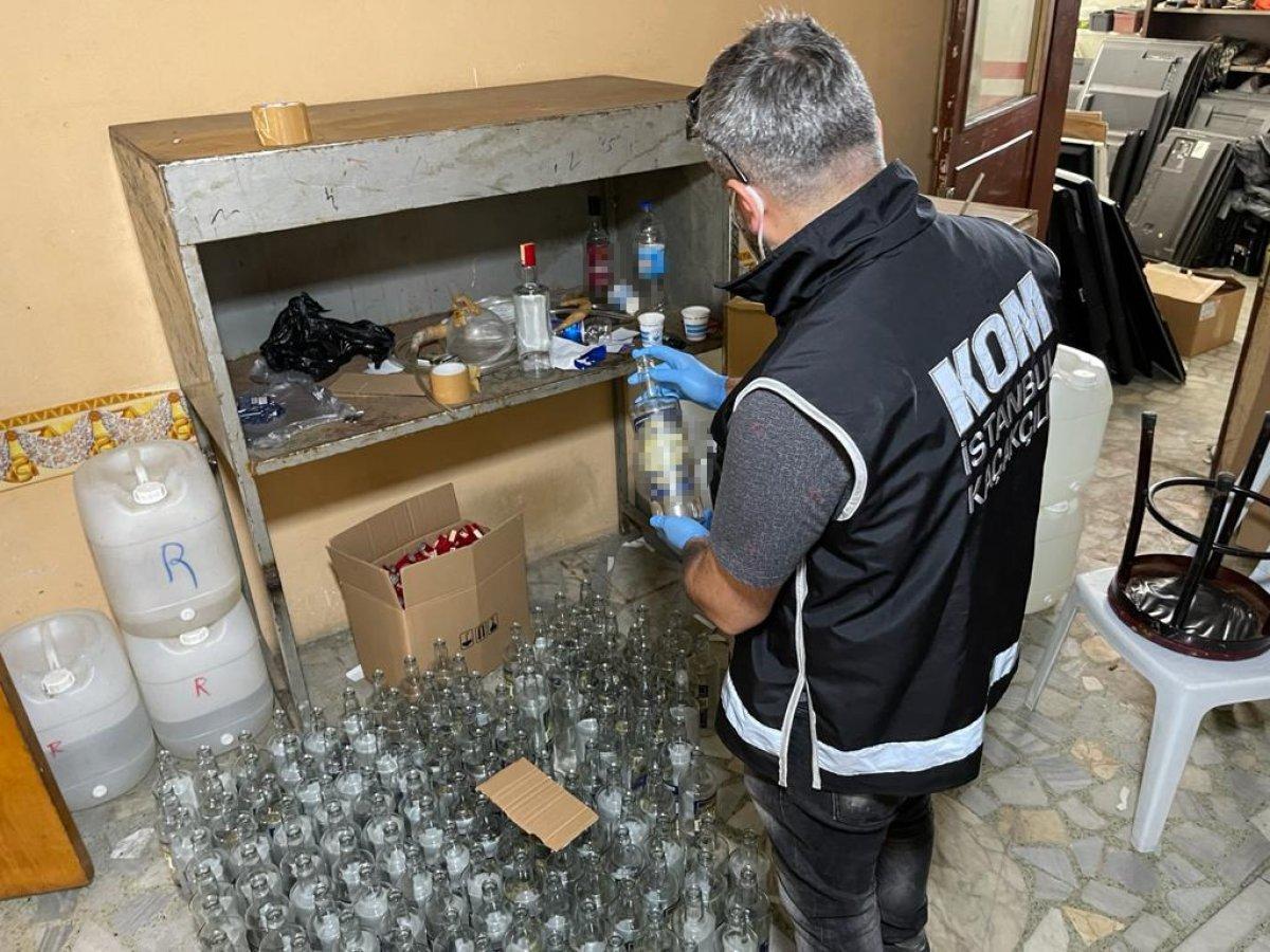 Başakşehir de 2 ton kaçak içki ele geçirildi #4