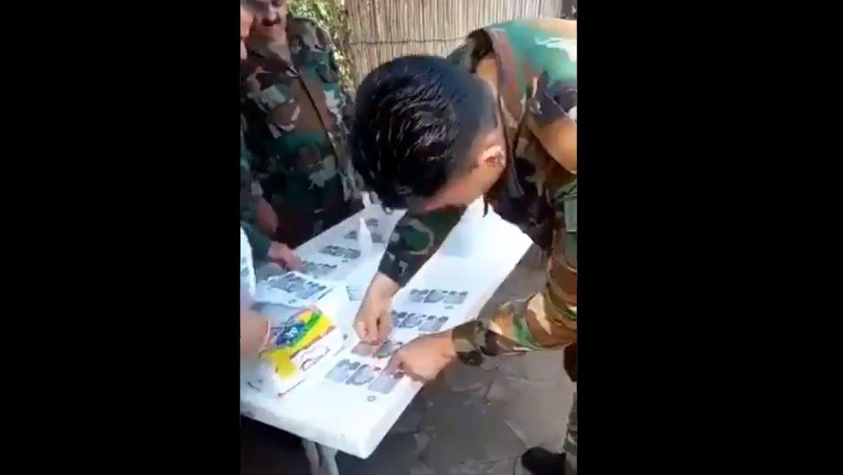 Esad ın askerleri oy pusulalarına seçmen yerine kendileri mühür vurdu #1