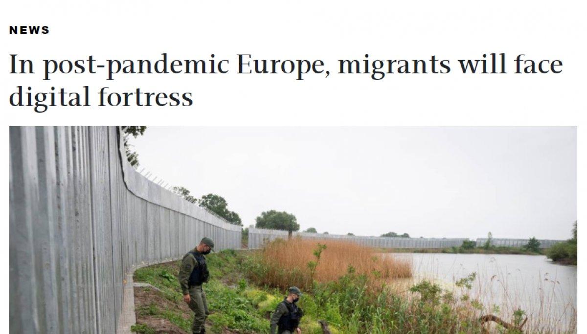 AB den Türkiye-Yunanistan sınırına dijital bariyer #1