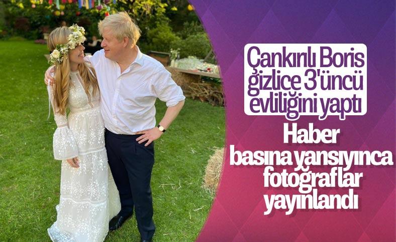 Gizlice evlenen Boris Johnson'ın düğün fotoğrafları ortaya çıktı