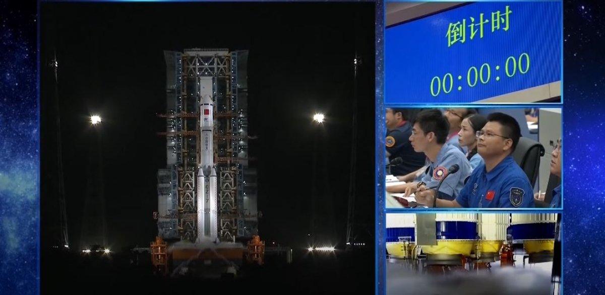 Çin in uzay kargo gemisi Tianzhou-2 yörüngeye yerleşti #1