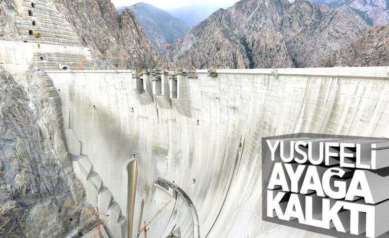 Yusufeli Barajı gövde inşaatı çalışmaları sona erdi
