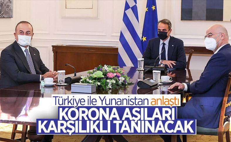Türkiye ile Yunanistan aşı sertifikasında anlaştı