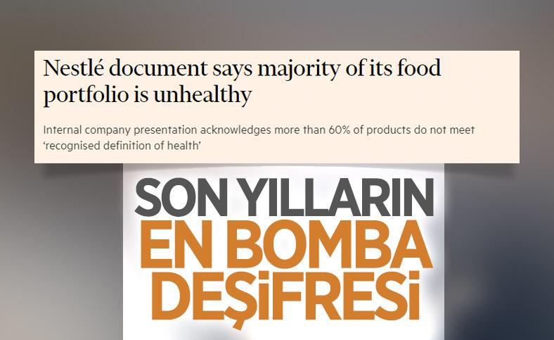 Nestle: Piyasadaki ürünlerimizin yüzde 60'ı sağlıksız