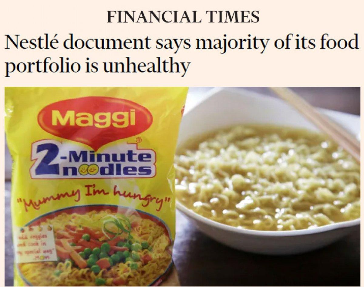Nestle: Piyasadaki ürünlerimizin yüzde 60 ı sağlıksız #3
