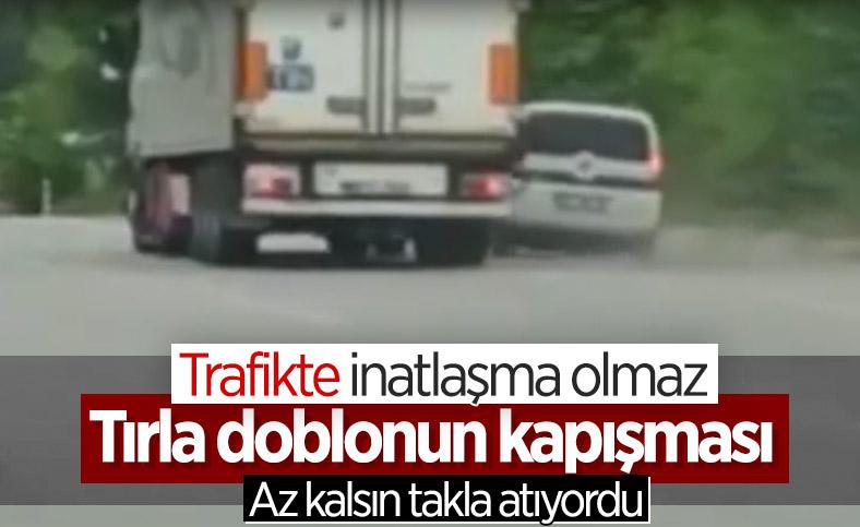 Samsun'da 'yol vermeme' inatlaşması kazaya sebep oldu